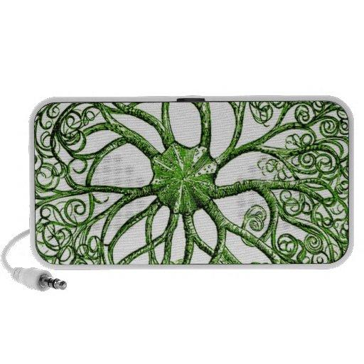 Vida marina del vintage de la anémona de mar iPod altavoces