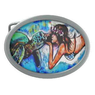 Vida marina hebillas de cinturón ovales