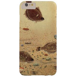 Vida marina marina del vintage, platijas de los funda de iPhone 6 plus barely there