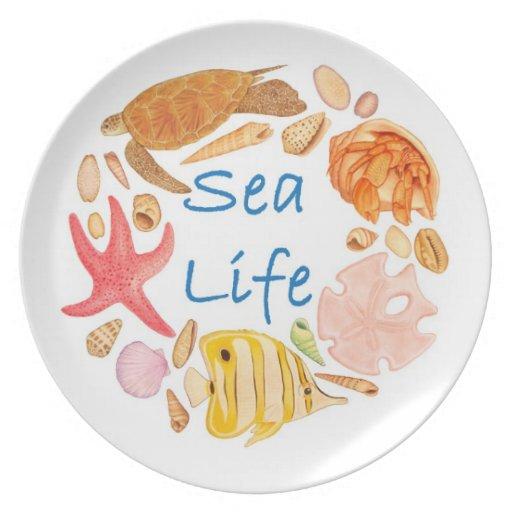 Vida marina plato para fiesta