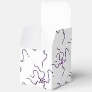 Vida marina púrpura del modelo de estrella de cajas para detalles de boda