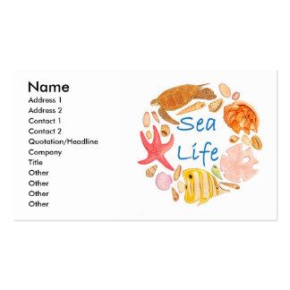 Vida marina tarjetas de visita