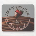 Vida más dulce con las fresas Mousepad del chocola Alfombrilla De Raton