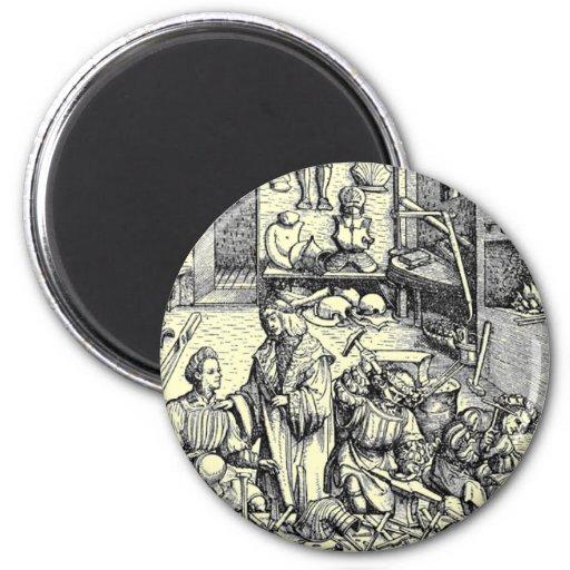 Vida medieval iman de nevera