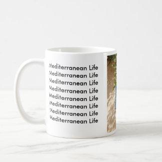 Vida mediterránea taza básica blanca