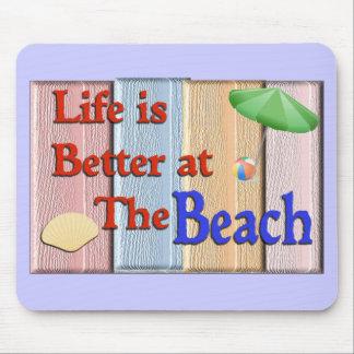 Vida mejor en la playa-mousepad alfombrillas de ratones
