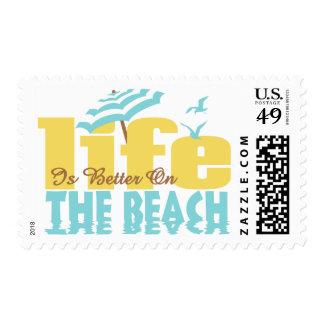 Vida mejor en la playa sellos