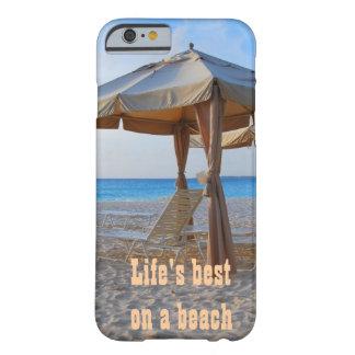 Vida mejor en una playa funda de iPhone 6 barely there