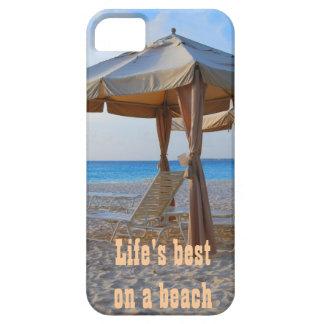 Vida mejor en una playa iPhone 5 carcasa