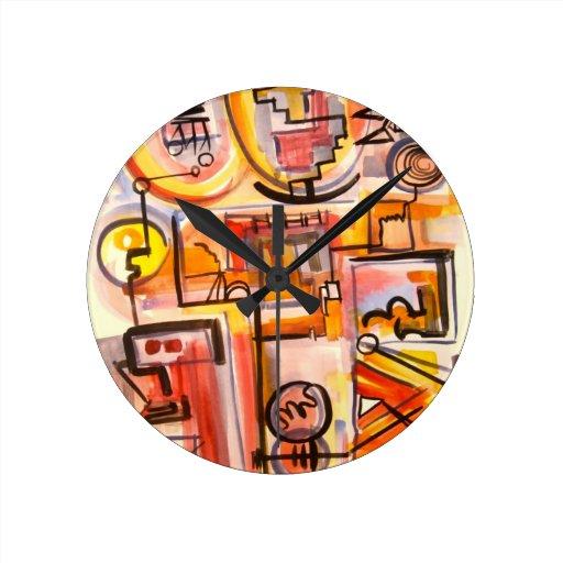 Vida moderna - reloj del arte abstracto