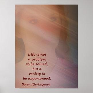 Vida no un problema - impresión del arte póster