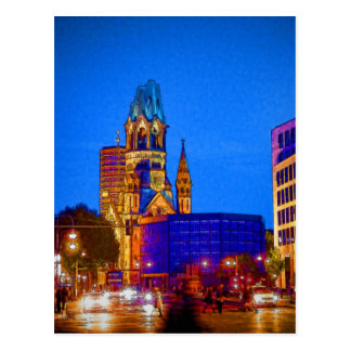 Vida nocturna de Berlín - iglesia del monumento de Postales