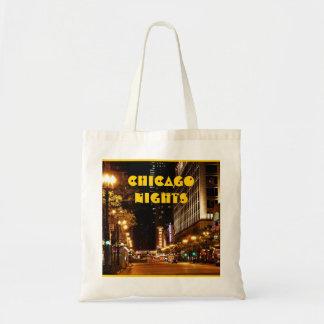 vida nocturna de Chicago Bolsa Tela Barata