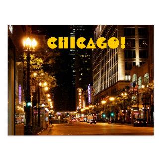 vida nocturna de Chicago Tarjetas Postales