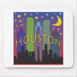 Vida nocturna del horizonte de Houston Alfombrilla De Raton