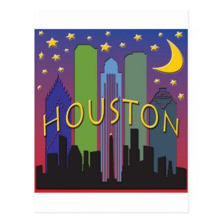 Vida nocturna del horizonte de Houston Tarjeta Postal