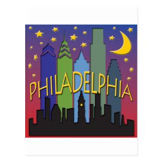 Vida nocturna del horizonte de Philadelphia Postal