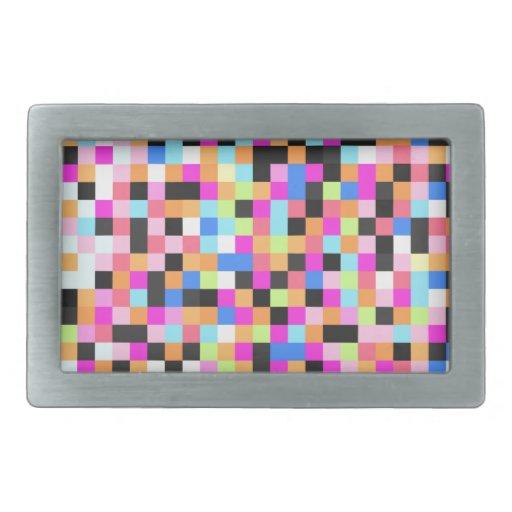 Vida nocturna (miedo del pixel) hebilla de cinturón rectangular