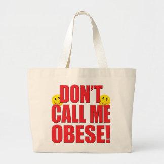 Vida obesa de la llamada bolsa tela grande