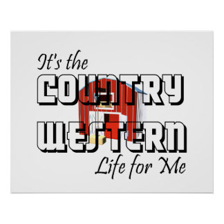Vida occidental del país de la CAMISETA Póster