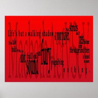 Vida pero una sombra que camina Macbeth Shakespe Posters