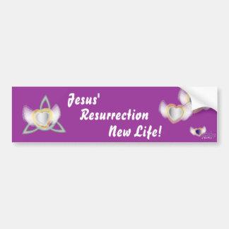 Vida-Personalizar de la resurrección de Jesús nuev Pegatina Para Auto