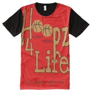 Vida por todo la camiseta impresa del panel, S de Playeras Con Estampado Integral