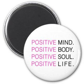 Vida positiva del alma del cuerpo de la mente imán de frigorifico