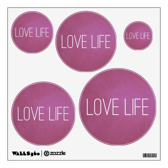 Vida púrpura del amor vinilo adhesivo
