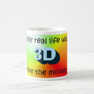 Vida real en 3D Taza Clásica