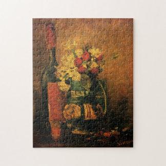 Vida romántica de Van Gogh aún con los rosas y el Rompecabeza