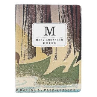 Vida salvaje - los parques nacionales preservan funda para libreta y libreta extra grande moleskin