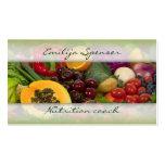Vida sana de las frutas y de las verduras/tarjeta  plantilla de tarjeta personal