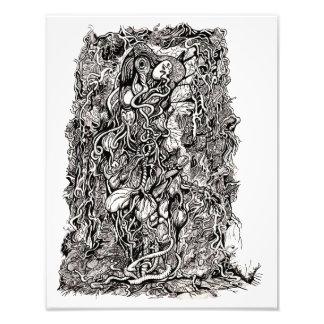 Vida sin la piel, por Brian Benson, impresión de Cojinete