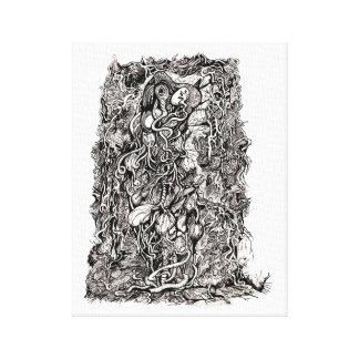 Vida sin la piel, por Brian Benson, Impresión En Lienzo