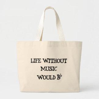 Vida sin música bolsa de mano