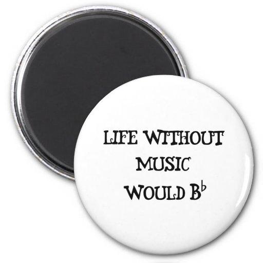 Vida sin música iman de frigorífico
