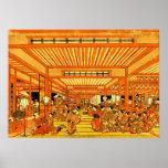 Vida social en Shin Yoshiwara 1772 Póster