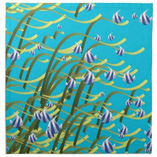 Vida subacuática servilleta imprimida
