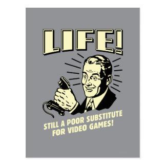 Vida: Subsitute pobre para los videojuegos Postales