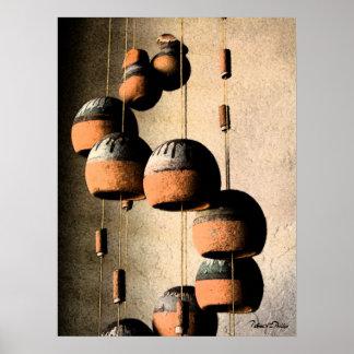 Vida torcida en espiral de los carillones de vient impresiones