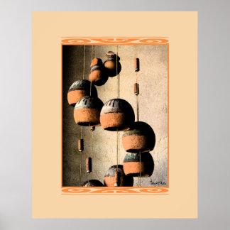 Vida torcida en espiral de los carillones de vient póster