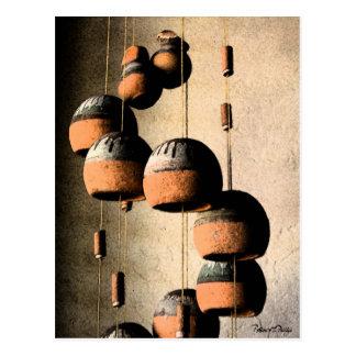 Vida torcida en espiral de los carillones de vient tarjeta postal
