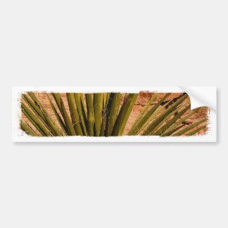 Vida vegetal de desierto pegatina de parachoque