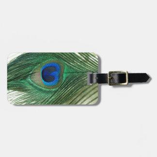 Vida verde del travesaño del pavo real de Apple Etiquetas De Equipaje