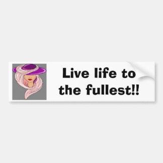 ¡Vida viva al más lleno! (pegatina para el paracho Etiqueta De Parachoque