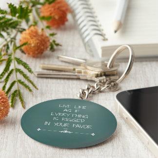 Vida viva de la cita inspirada de Rumi como si… Llavero Redondo Tipo Pin