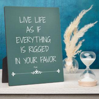 Vida viva de la cita inspirada de Rumi como si… Placas