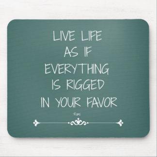 Vida viva de la cita inspirada de Rumi como si… Tapete De Ratón