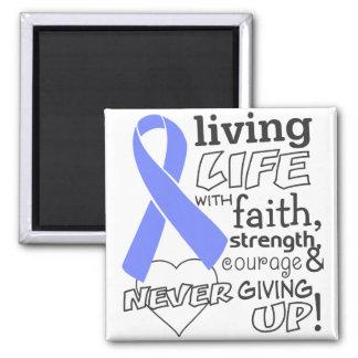 Vida viva del cáncer de estómago con la fe iman